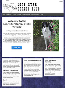 dog breed club Wordpress website