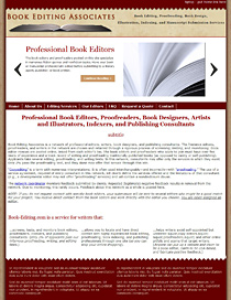 Book Editing Associates website redesign