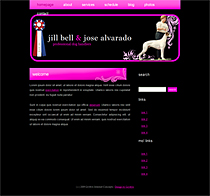 Jill Bell, professional dog handler website